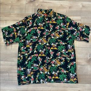 Vintage Mickey Mouse Reyn Spooner Button Shirt M